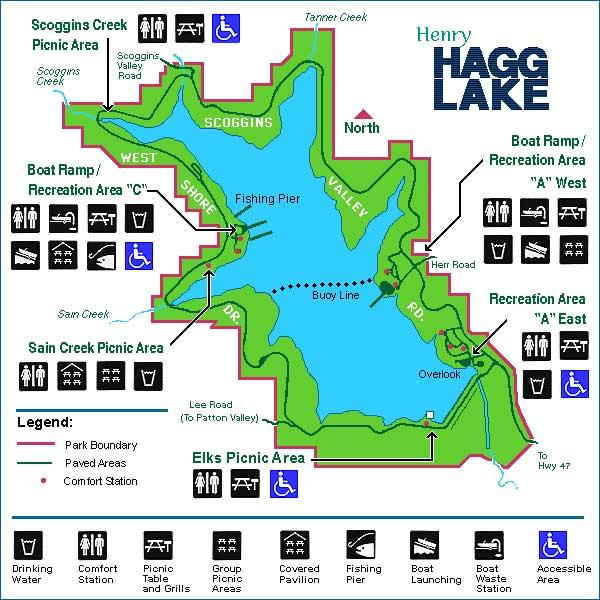 Hagg Lake Trail Mountain Biking Map