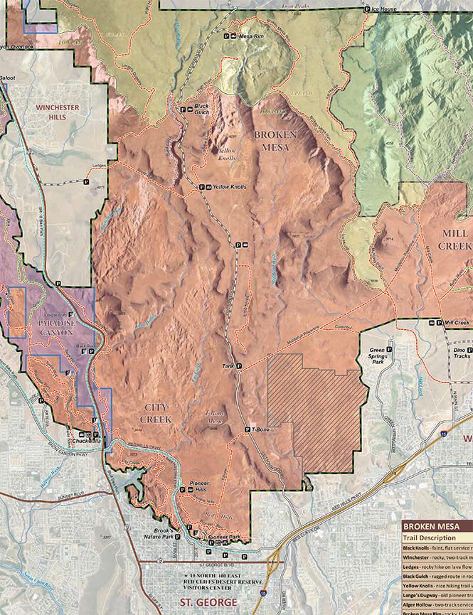 Broken Mesa Trail Mountain Biking Map