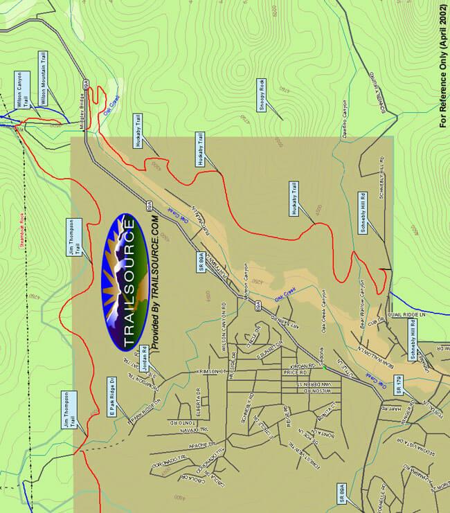 Jim Thompson Trail Hiking Map