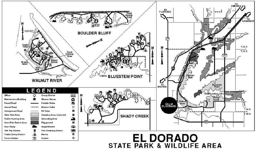 El Dorado State Park Mountain Biking Map