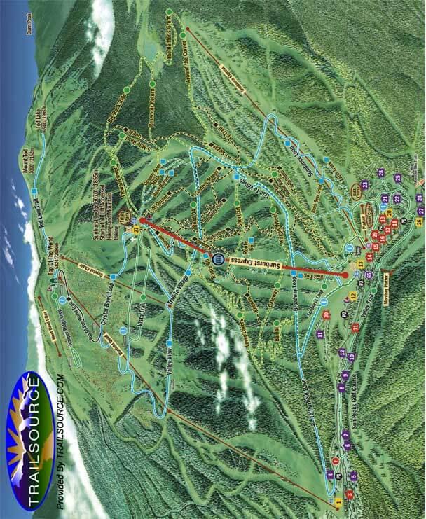 Sun Peaks Mountain Biking Map