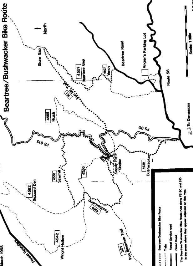 Bushwacker Loop Mountain Biking Map