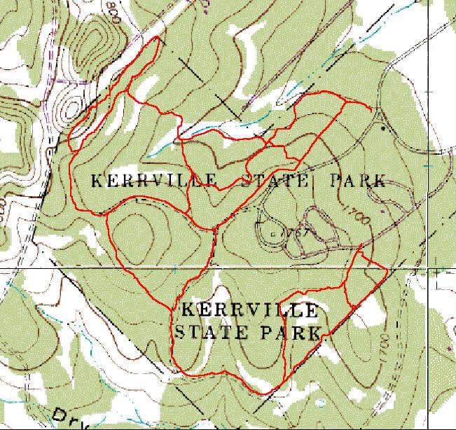 Kerrville-Schreiner State Park Mountain Biking Map
