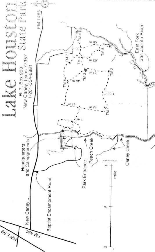 Lake Houston State Park Mountain Biking Map