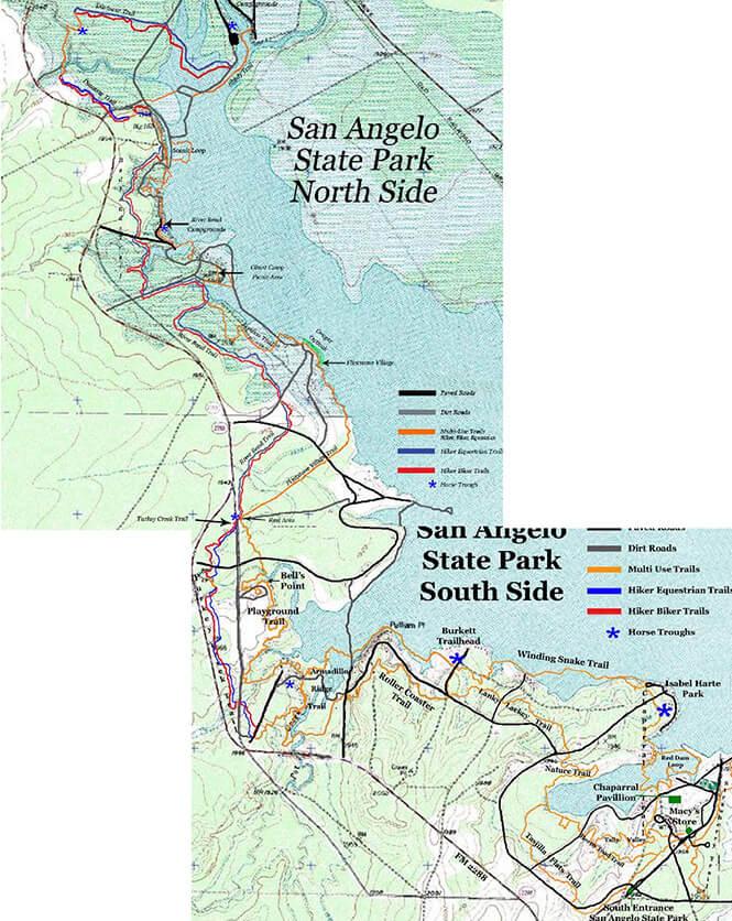 San Angelo State Park Mountain Biking Map
