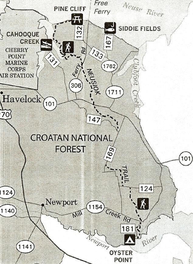 Neusiok Trail Hiking Map