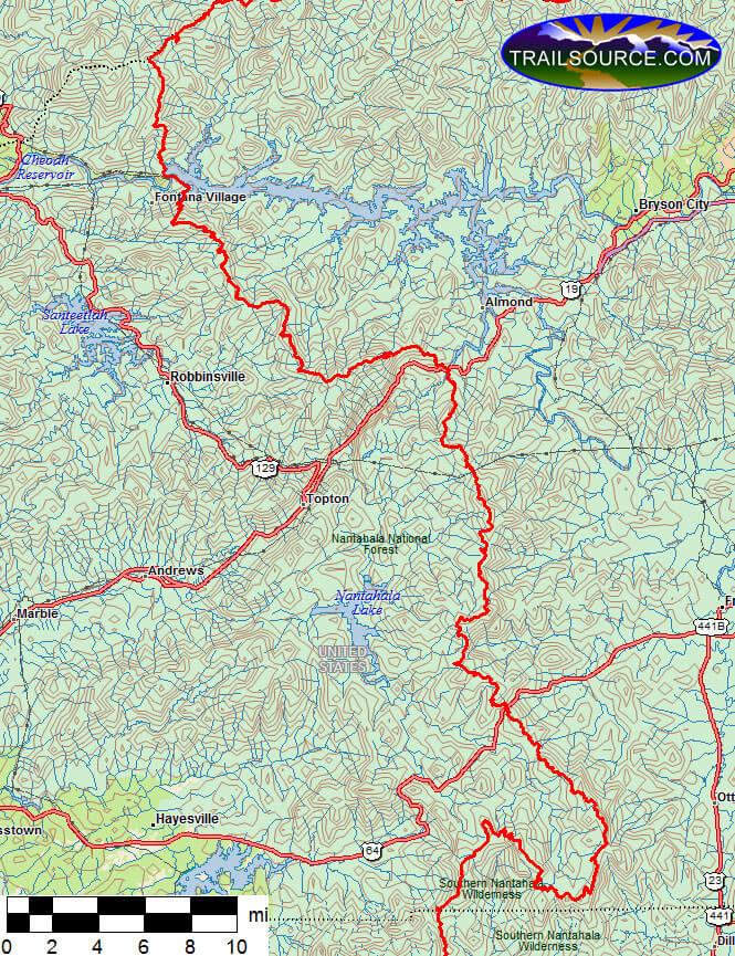 Appalachian Trail Hiking Map