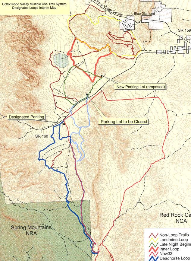 Cottonwood Valley Mountain Bike Park Mountain Biking Map