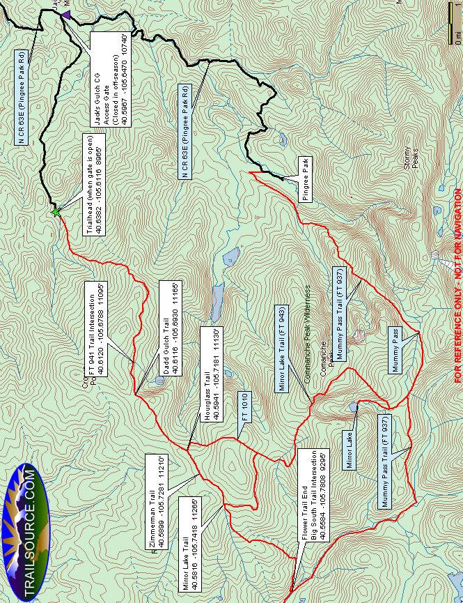 Flowers Trail Horseback Riding Map