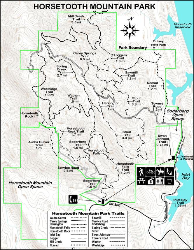Horsetooth Mountain Mountain Biking Map