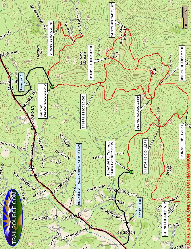 Beasley Knob ATV Trail ATV Trails Map