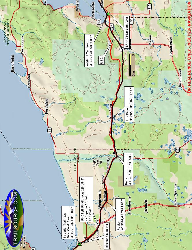 Tri-Co Recreation Corridor ATV Trails Map
