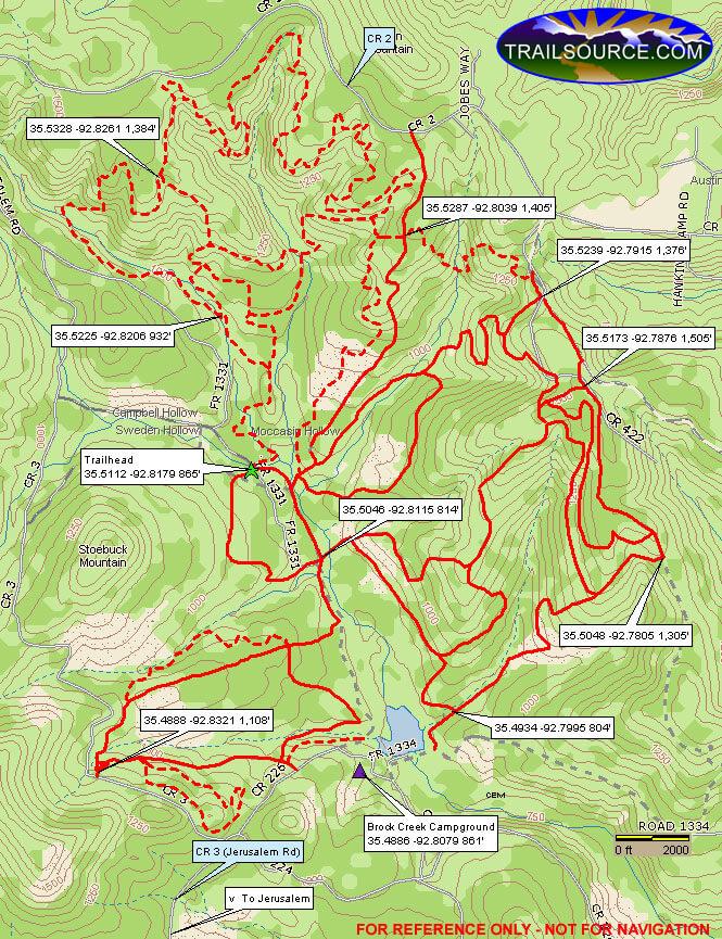 Brock Creek Trails ATV Trails Map