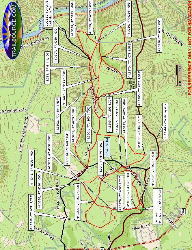 Haneyville ATV Trail ATV Trails Map