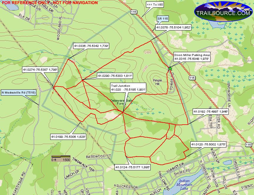 Dixon Miller Recreation Area ATV Trails Map