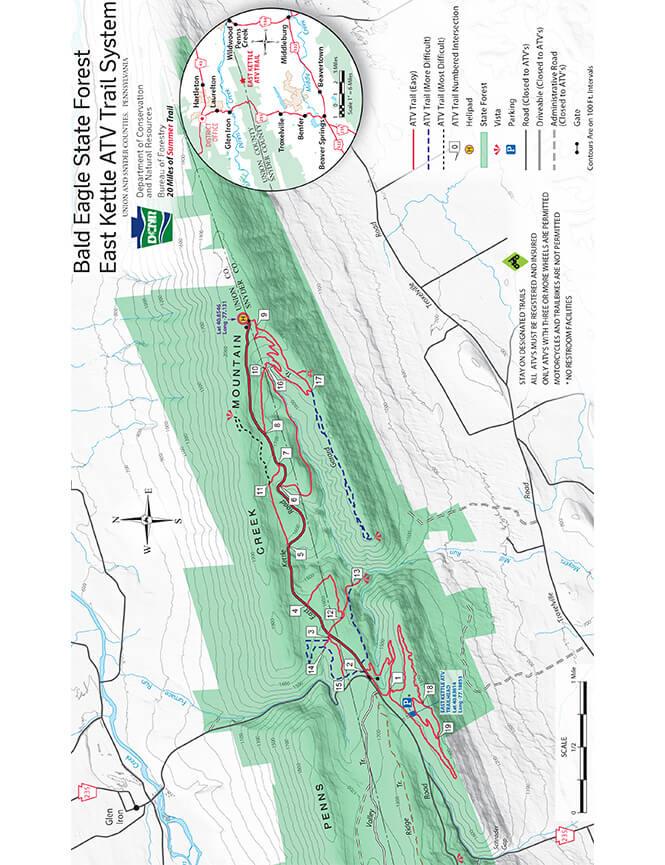 Bald Eagle ATV Trail ATV Trails Map
