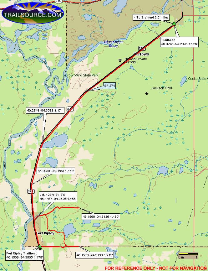 Fort Ripley Trail ATV Trails Map