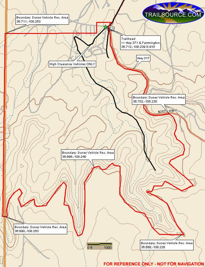 Dunes Vehicle Recreation Area ATV Trails Map