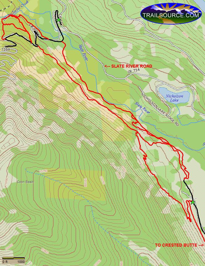 Lower Loop Trail Mountain Biking Map