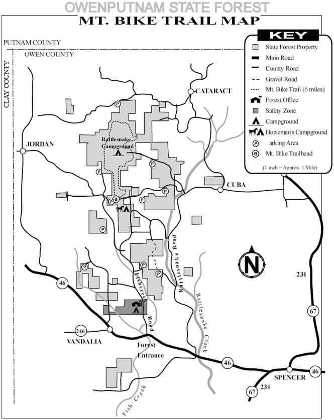 Owenputnam State Forest Horseback Riding Map