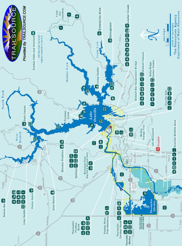 Lake Oroville State Recreation Area Mountain Biking Map