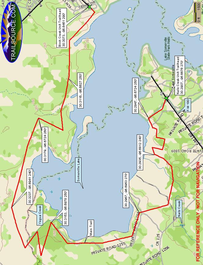 Lake Somerville State Park Horseback Riding Map