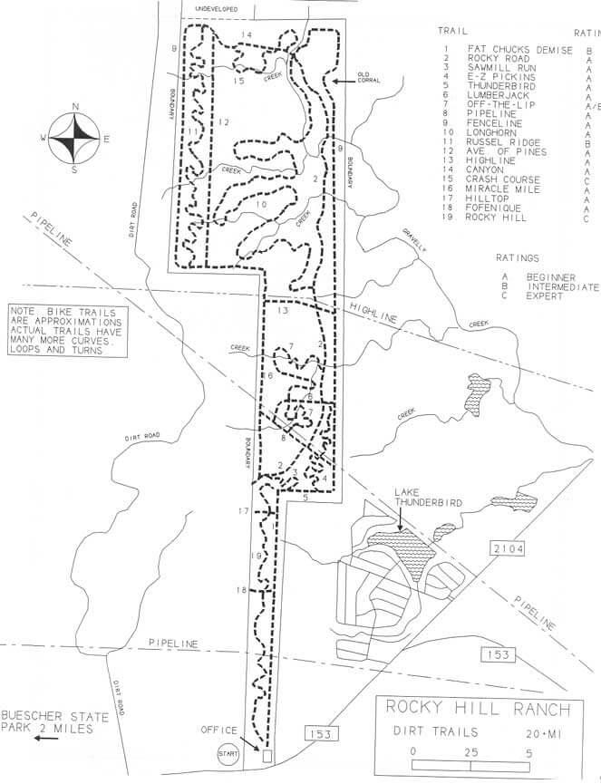 Rocky Hill Ranch Mountain Biking Map