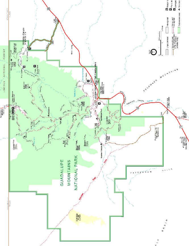 Dog Canyon Horseback Riding Map
