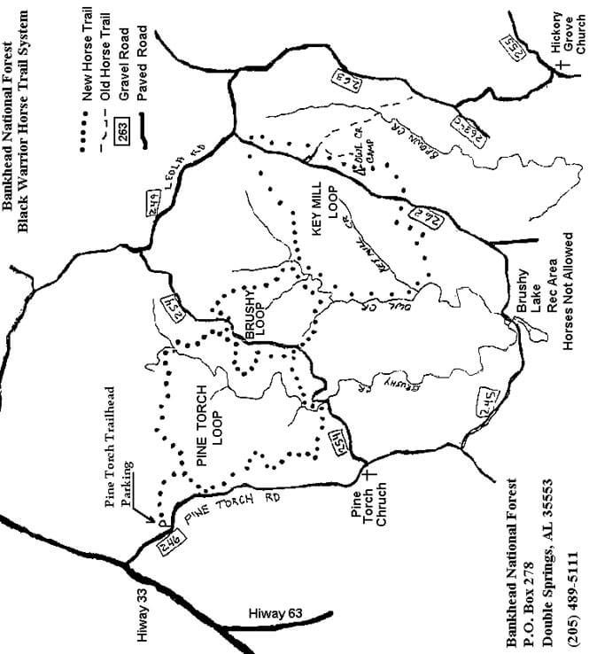 Pine Torch Horse Loop Horseback Riding Map
