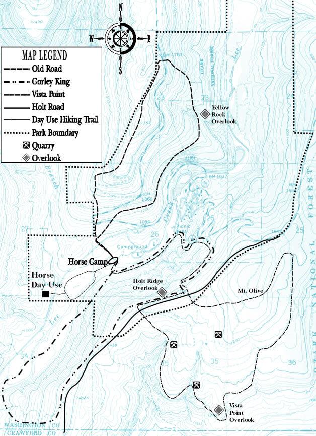 Devils Den State Park Horseback Riding Map