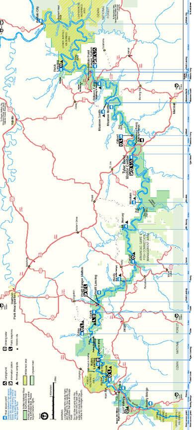 Buffalo National River Bridle Trail Horseback Riding Map