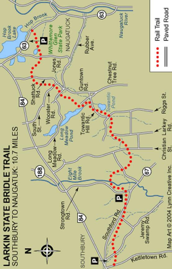 Larkin State Bridle Trail Horseback Riding Map