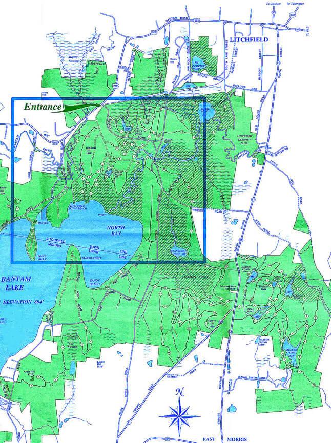White Memorial Conservation Center Mountain Biking Map
