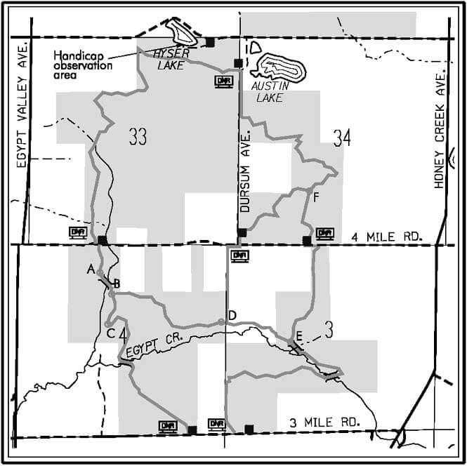 Cannonsburg State Game Area Mountain Biking Map