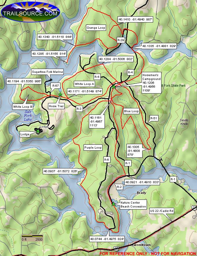 Salt Fork State Park Hiking Map