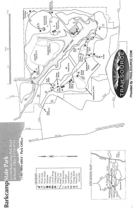Barkcamp State Park Horseback Riding Map