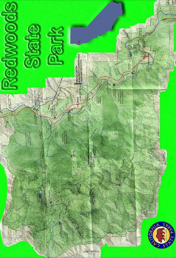 Humboldt Redwoods State Park Hiking Map
