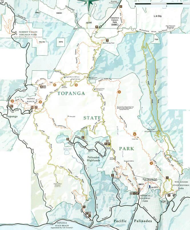 Topanga State Park Horseback Riding Map