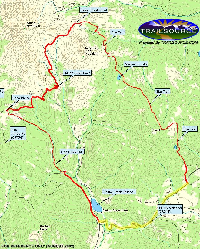 Star Trail Mountain Biking Map