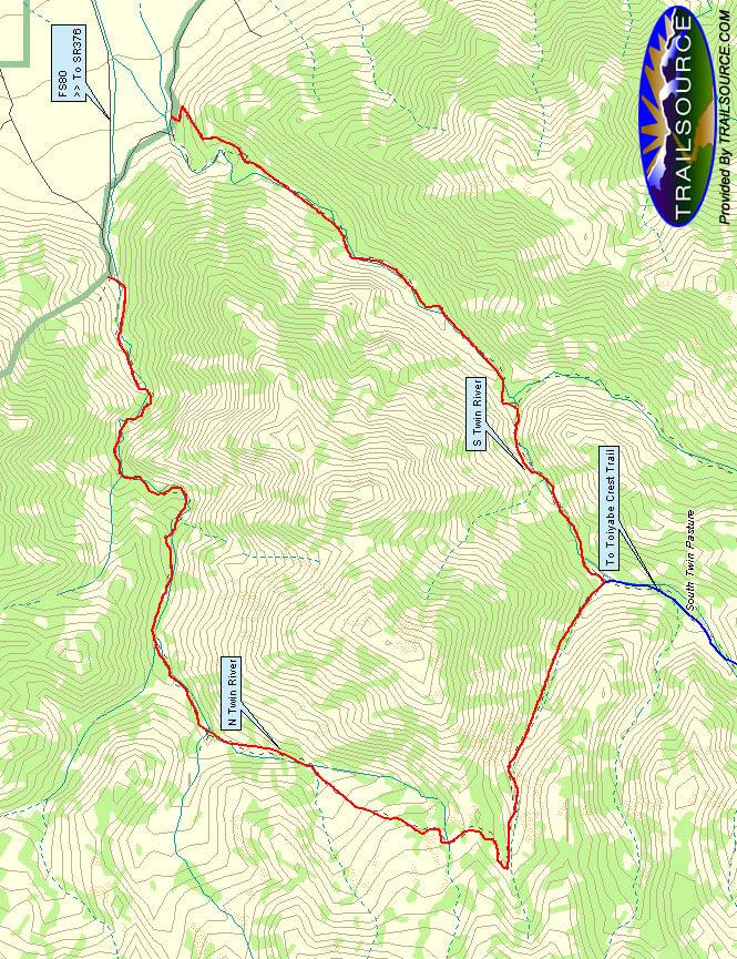 Twin River Canyon Loop Hiking Map