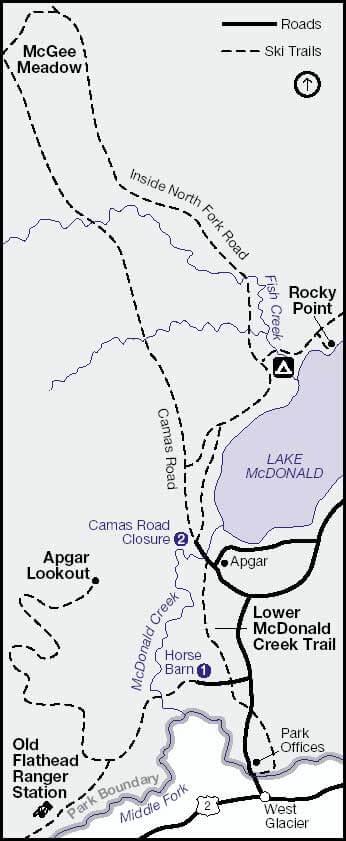 Apgar Cross Country Skiing Map