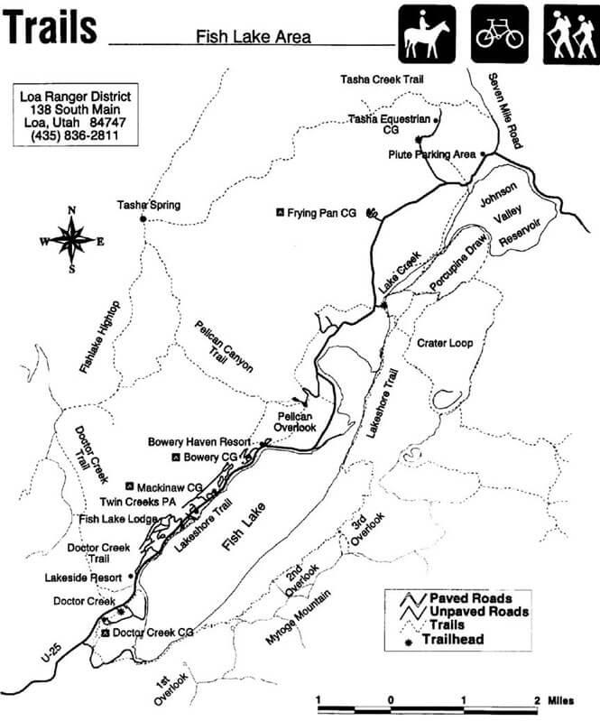Fishlake National Forest Horseback Riding Map