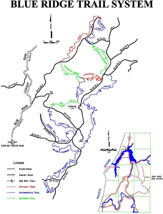 Blue Ridge Trail System Horseback Riding Map