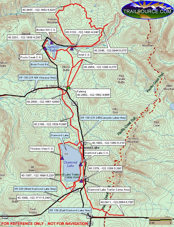Diamond Lake ATV Trails Map