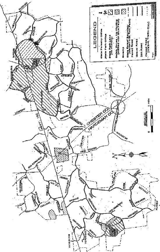 Chickasaw State Park Mountain Biking Map