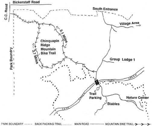 Chinquapin Ridge Trail Mountain Biking Map