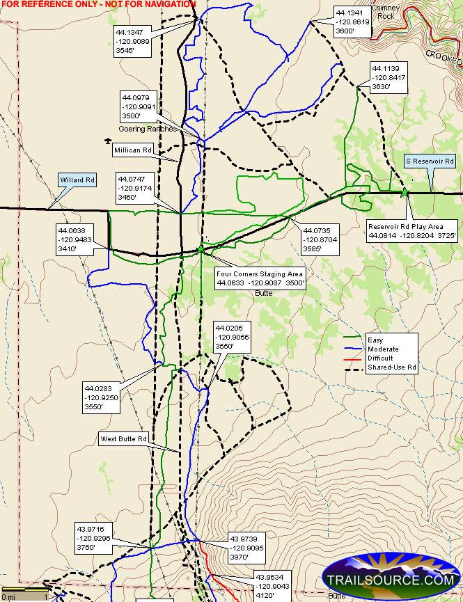 Millican Plateau Trail System ATV Trails Map