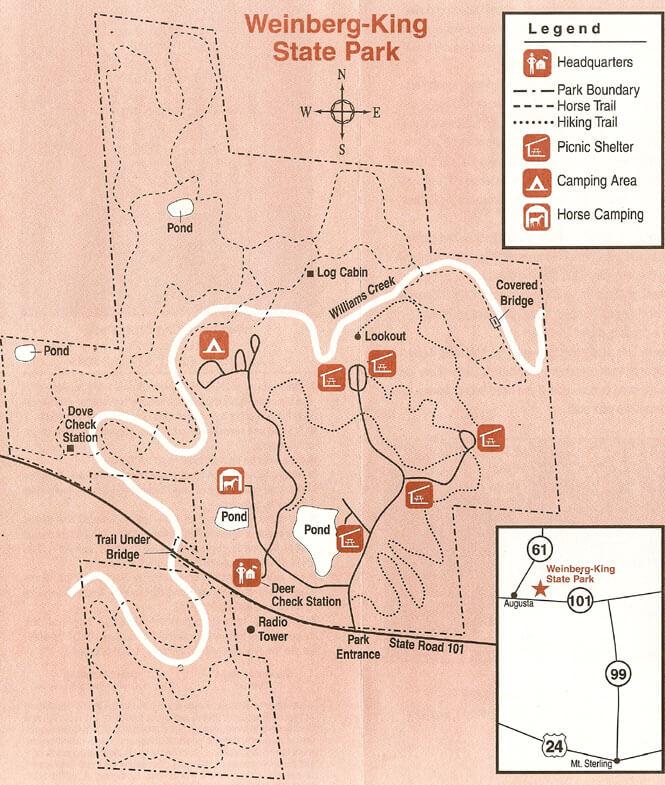 Weinberg-King State Wildlife Area Horseback Riding Map