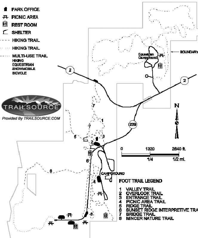 Waubonsie State Park Cross Country Skiing Map