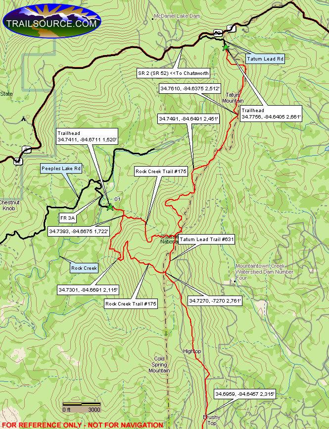 Tatum Lead ORV Trail ATV Trails Map
